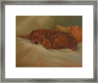 Dreaming Framed Print by Kathleen  Hill