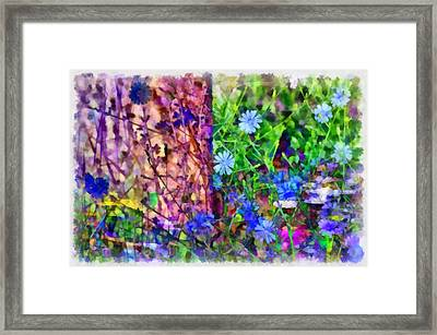 Dreaming Night And Day Framed Print by Angelina Vick