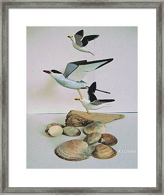 Dreams Evoked From Wooden Birds Framed Print