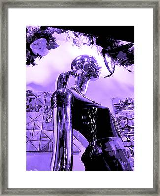 Dreams In Shades Of Purple Framed Print by Kym Backland