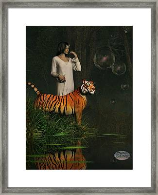 Dreams Of Tigers And Bubbles Framed Print