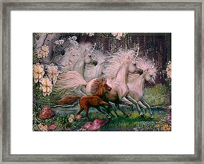 Framed Print featuring the painting Dreams Of Unicorns by Steve Roberts