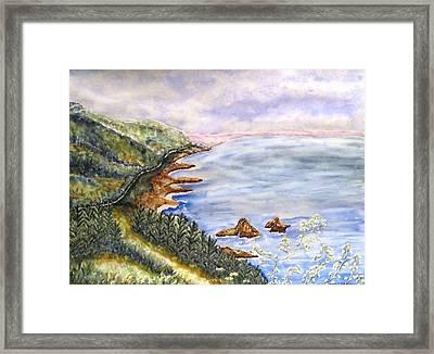 Dreamy Coast Framed Print by DJ Laughlin