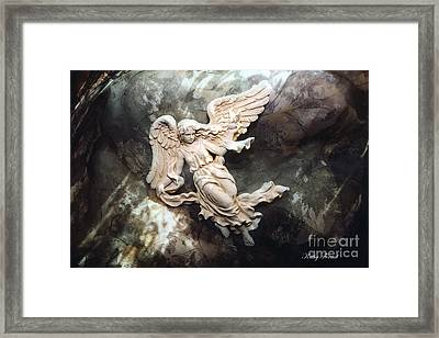 Dreamy Surreal Fantasy Ethereal Angel  Framed Print by Kathy Fornal