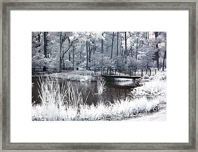 Dreamy Surreal South Carolina Pond Landscape Framed Print by Kathy Fornal