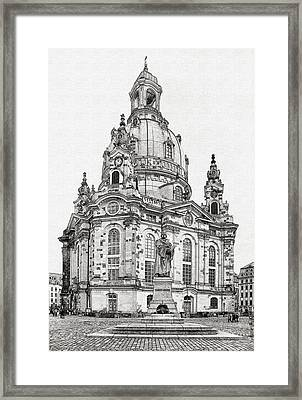 Dresden's Church Of Our Lady - Reminder Of Peace Framed Print by Christine Till