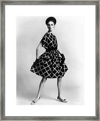 Dress By Pauline Trigere. Short Framed Print by Everett