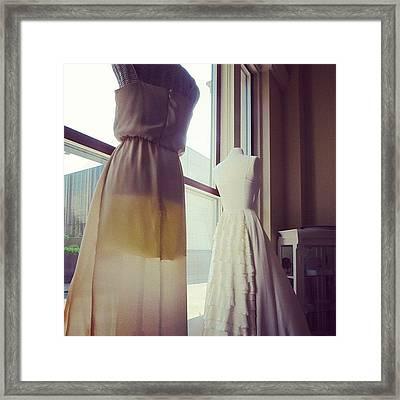 #dress #fashion #style #white #wedding Framed Print