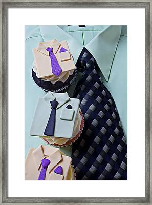 Dress Shirt Cupcakes Framed Print by Garry Gay
