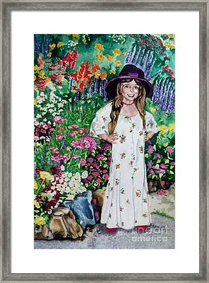 Dress Up In The Garden Framed Print