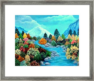 Framed Print featuring the painting Dressed For Fall by Fram Cama
