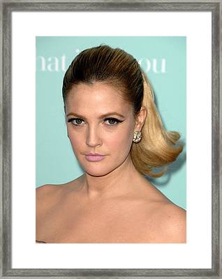 Drew Barrymore At Arrivals For Hes Just Framed Print by Everett