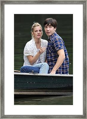 Drew Barrymore, Justin Long On Location Framed Print