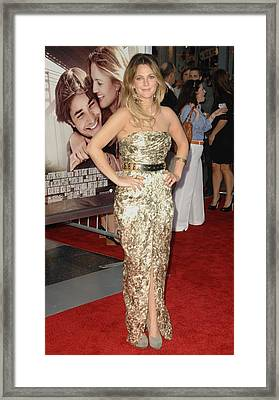 Drew Barrymore Wearing A Catherine Framed Print