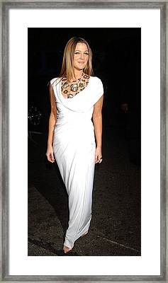 Drew Barrymore Wearing A Donna Karan Framed Print