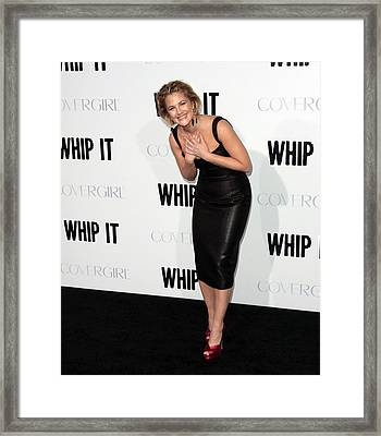 Drew Barrymore Wearing A Lwren Scott Framed Print by Everett