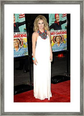 Drew Barrymore Wearing An Andrew Gn Framed Print