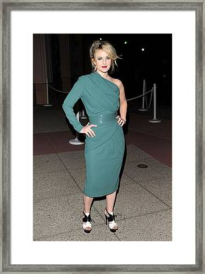 Drew Barrymore Wearing An Elie Saab Framed Print by Everett