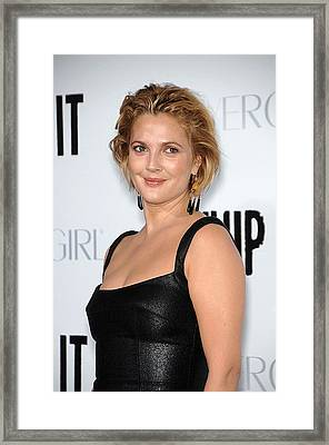 Drew Barrymore Wearing Neil Lane Framed Print