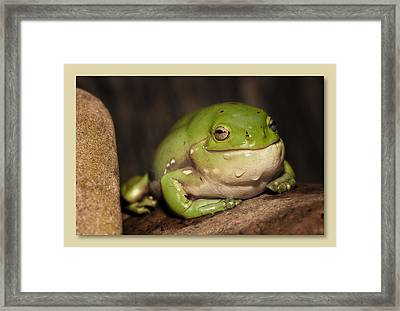 Framed Print featuring the digital art Dribbles by Kevin Chippindall