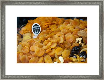 Dried Fruit For Sale Framed Print by Inti St. Clair