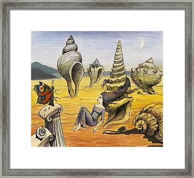Framed Print featuring the painting Dried-up Ocean by Valentina Plishchina
