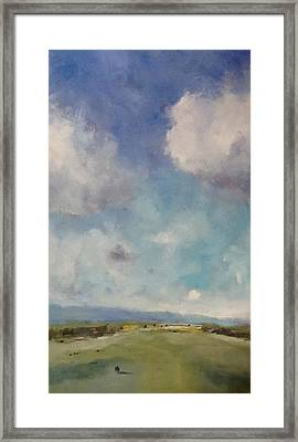 Drifting Clouds Over Arreton Valley Framed Print by Alan Daysh