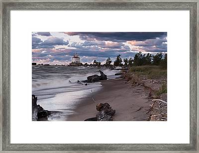 Driftwood Framed Print by At Lands End Photography