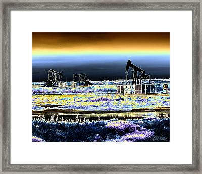 Drilling For Black Gold Framed Print by Diana Haronis