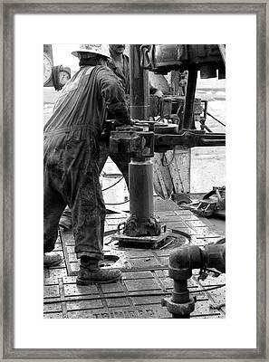 Drilling For Gold Framed Print