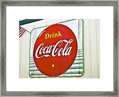 Drink Coca Cola Framed Print by Susan Leggett