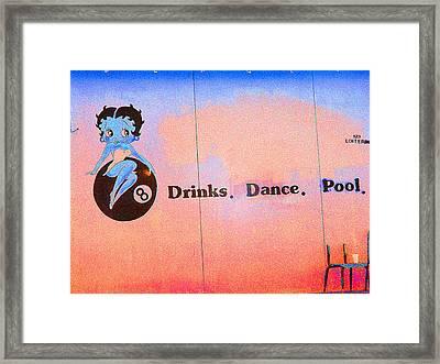 Drink Dance Pool Framed Print