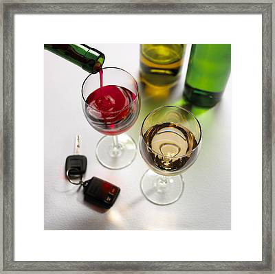Drink Driving, Conceptual Image Framed Print by Mark Sykes