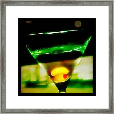 Drink Of The Day...martini. #martini Framed Print