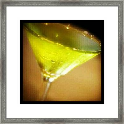 Drink Of The Day...sour Apple Martini Framed Print