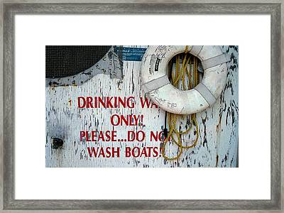 Drinking Water Only Framed Print by Patricia Greer