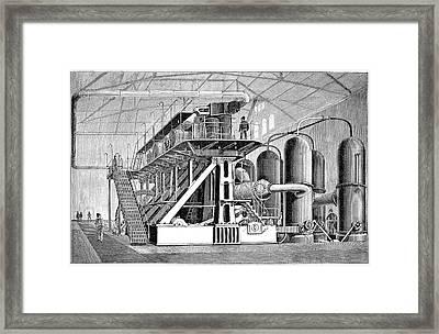 Drinking Water Supply, 19th Century Framed Print