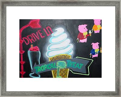Framed Print featuring the painting Drive In by Diana Riukas