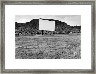 Drive In Movie Theater  Framed Print