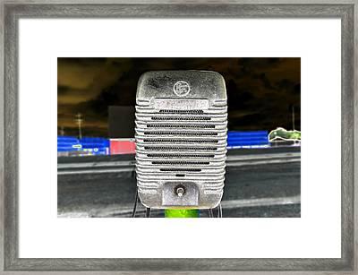 Drive In Speaker Framed Print