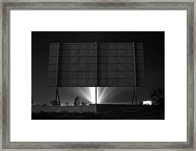 Drive-in Theater - After The Dust Storm Framed Print by Nick Florio