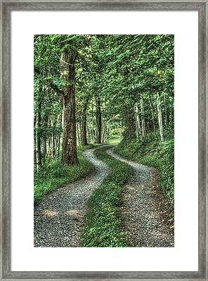 Driveway Out Framed Print by Heavens View Photography