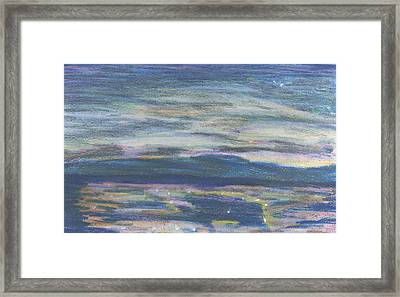 Framed Print featuring the pastel Driving By Utica by Denny Morreale
