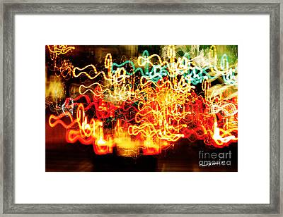Painting With Light  Home For The Holidays Framed Print by Carol F Austin
