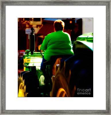 Driving John Home Framed Print by Steven Digman