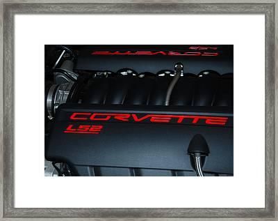 Driving Legend - Corvette Ls-2 Framed Print by Steven Milner