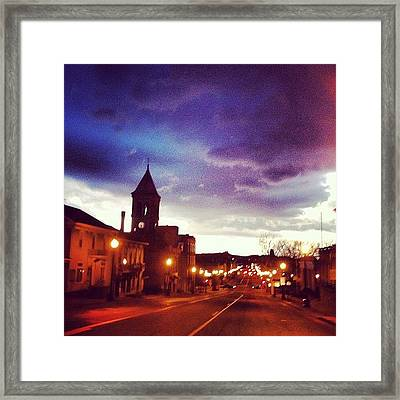 Driving Through Lancaster Oh Framed Print by  Abril Andrade Griffith