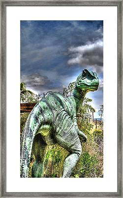 Framed Print featuring the photograph Dromaeosauridae by Jason Abando