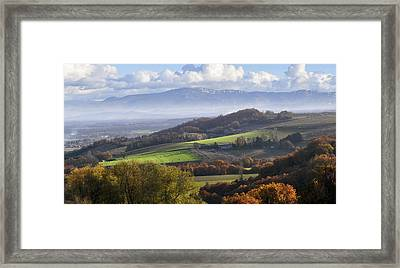 Drome Hills With Vercors Mountains Framed Print by Photographer Chris Archinet