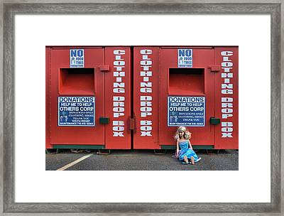 Framed Print featuring the photograph Drop Box by Steven Richman